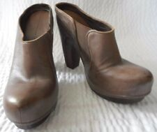 All Saints Spitafields Brown Leather Size 39 Mules Shoes