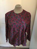 Vintage paisley print cotton blouse - Size 20