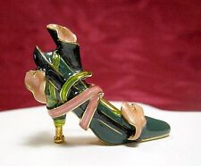 KJL KENNETH J LANE ENAMEL HIGH HEEL SHOE PIN BROOCH BREAST CANCER PINK RIBBON