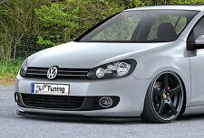 Spoilerschwert Frontspoiler Lippe Cuplippe Splitter aus ABS für VW Golf 6  ABE