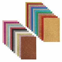 24x Glitter Fabric Sheets, Faux PU Leather for DIY Crafts, 24 Colors, 6 x 9 inch