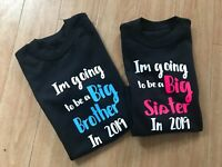 Im going to be a big brother boys matching sister Tshirt top 2021 baby reveal 22