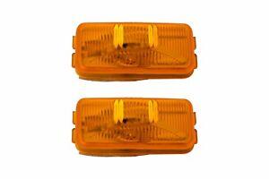 84-97 Ford F150 F250 F350 Amber Orange Rear Side Marker Lights OEM EOTZ-15442-B