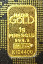 KARATBAR 1 Gram Fine Gold 999.9 Pure CERTIFIED ASSAY Card Serial #K104400