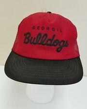 Vintage Georgia Bulldogs Snapback Hat Red Black
