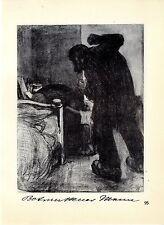 Käthe Kollwitz Werke Betrunkener Mann und Julen Historische Grafik 1930