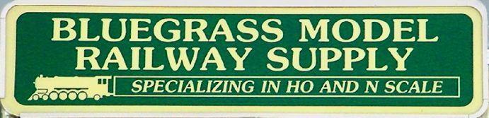 Bluegrass Model Railway Supply