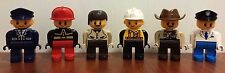 LEGO Duplo People Lot of 6 Village Career People Fireman, Sheriff, and More EUC
