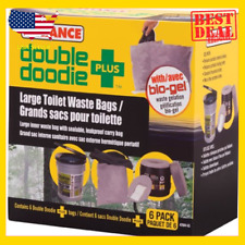 Reliance Products Double Doodie Plus Large Toilet Waste Bags 6-Pack USA Seller