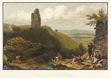 KYFFHÄUSER - REICHSBURG KYFFHAUSEN - Bechstein - kolorierter Stahlstich 1838