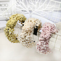 Elegant Flower Pearl Lace Headband Knot Women Hairband Hair Accessories