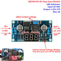 3A DC-DC Buck Step down Converter 4-40V To 1.25-37V Power Supply LED Voltmeter