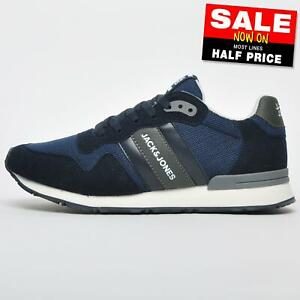 Jack & Jones Stellar Men's Casual Classic Retro Running Shoes Trainers Navy