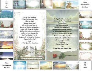 Mother's Day Personalized Gifts ~Personalized Poem 4 a Sweetheart (25 styles)
