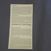 875D Märklin 7072 H0 Instrucciones 2 Páginas Atril de mando