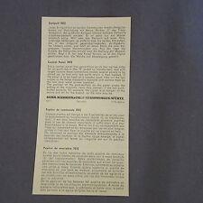 875D Märklin 7072 H0 Notice 2 Pages Pupitre de Commande