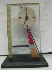 Beaux Artes Modern Glass Desk Mantle Shelf Clock Art Deco