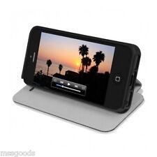 New Incipio Apple iPhone SE/5 Black LGND Premium Hard Shell Folio Kickstand Case