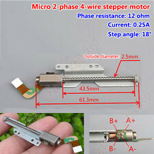 Micro long linear screw 2-phase 4-wire  Mini Stepper Motor lead slider DIY18 deg