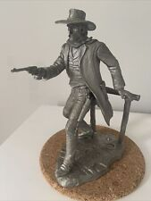 Franklin Mint The Gunfighter Pewter Figure by Jim Ponter 1979 Wild West Lawman