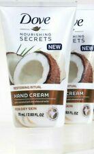 2 Dove Nourishing Secrets 2.53 Oz Restore Ritual Coconut Oil Dry Skin Hand Cream