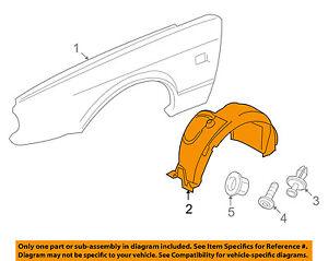 JAGUAR OEM 04-07 XJ8-Front Fender Liner Splash Shield Right C2C36980