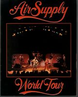 AIR SUPPLY 1982 NOW AND FOREVER TOUR CONCERT PROGRAM BOOK BOOKLET / NMT 2 MINT