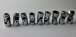 "Craftsman 1/4"" Drive Metric MM Swivel Flex Socket Set, 6pt - 10 pcs (10-19 mm)"