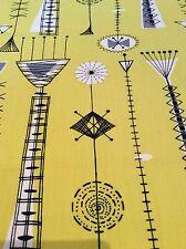 "David Parsons Kite Strings vintage 50s Heals fabric full width panel 19""d x50""w"