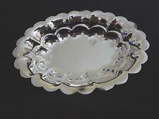 """Oneida Silverplate 7 Fluted Oval Bon Bon 8"""" inch in Box Made In Usa"""
