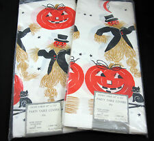 Halloween 2 Vintage Party Table Covers 60 by 102 Inch Made USA Paper Tablecloths