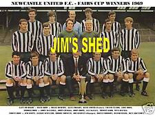 NEWCASTLE UNITED F.C. TEAM PRINT 1969 FAIRS CUP WINNERS