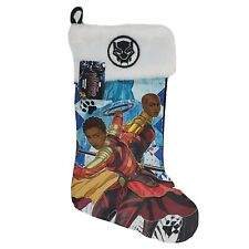 Black Panther Marvel Christmas Holiday Stocking with Okoye & Nakia Embroidered