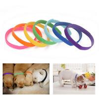 12 Colors Adjustable Newborn Puppy ID Collar Band Whelping Pet Kitten Reusable