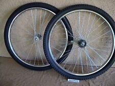 NEW 26''X 1.75 CRUISER BICYCLE 36 SPOKES WHEEL SET WITH TIRES & TUBES .