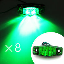 8X LED 2 Diode Side Marker Indicator Light Lamp Green 12V/24V Truck Trailer