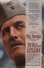 FATMAN AND LITTLEBOY MOVIE POSTER 27x40 ORIGINAL PAUL NEWMAN 1989 WWII FILM