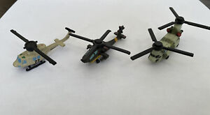 Lot of 3 Helicopters 1992-93 Vintage Galoob Micro Machines **GREAT CONDITION**