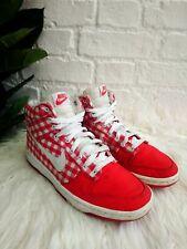 Rare Nike Dunk High Skinny Trainers Size UK 5 EU 38.5 Red Plaid Gingham Checker