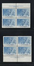 NO 359 VINTAGE CANADA HOCKEY STAMPS FROM 1957: 2  BLOCKS OF 4  VF M NH