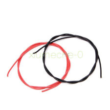 Red Black16 AWG Gauge Wire Flexible Silicone Stranded Copper Cables For RC