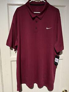 Nike Dri-Fit Short Sleeve Athletic Polo Shirt Mens Size 4XL-Tall