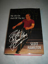 Landing It My Life on and off the Ice by Scott Hamilton SIGNED 1st/1st 1999 HCDJ