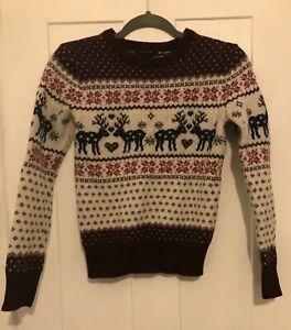Wool fairisle Christmas jumper, size 6