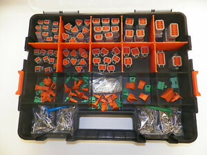 678 PC GRAY DEUTSCH DT CONNECTOR KIT SOLID CONTACTS + REMOVAL TOOLS