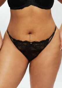NEW! Ann Summers SEXY LACE Sustainable STRING, Black *NEW* RRP£6