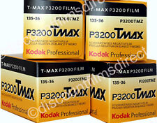 4 x  KODAK TMAX 3200 35mm 36 EXPOSURE BLACK & WHITE CAMERA FILM - 1st CLASS POST
