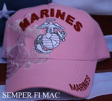 US MARINES WIFE HAT DAUGHTER AUNT PINK MOM NEICE  WOWMH