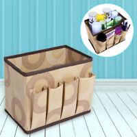 Desk Storage Box Jewelry Cosmetic Holder Stationery Organizer Case Bag Non-woven