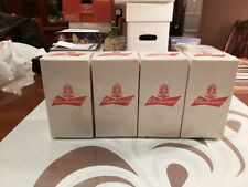 Budweiser Goal Synced Red Light Glass Limited Edition Set of 4 RARE Canada SYNC